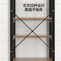榮事達廚房置物架微波爐架子單層雙層三層落地多層烤箱架收納架