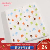 象宝宝(elepbaby) 婴儿床单床笠柔软针织棉床单隔尿奇趣脚Y(针织床单款) 150x200cm *3件