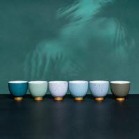 xigu 熹谷 白瓷 陶瓷茶杯品茗杯 满天星*6只
