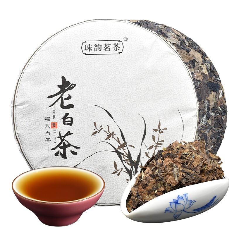 珠韵茗茶 福鼎老白茶茶饼 350g