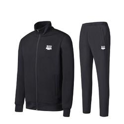 361度运动套装男2020秋季跑步长款休闲装两件套卫衣外套运动服男士 651744902-1碳黑 S