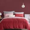 LOVO 乐蜗家纺 60支全棉四件套 红色 1.8m床
