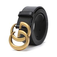 GUCCI 古驰 Marmont系列 406831 DJ20T 男士牛皮双G板扣腰带