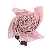 Gucci 古驰 282390 双面羊毛和真丝混纺围巾