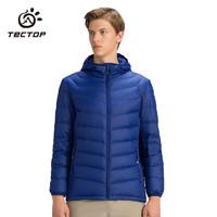 探拓 (TECTOP) 戶外輕薄羽絨服 男女短款修身連帽防寒保暖羽絨外套 防潑水外衣D208107YR 男款寶蘭 S *5件
