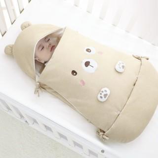 七彩博士 QS53 婴儿抱被 彩棉小熊米尼咖色