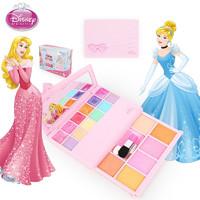 迪士尼兒童化妝盒安全公主化妝品玩具幼兒園舞臺表演女孩新年生日新年禮物童話彩妝盒眼影腮紅