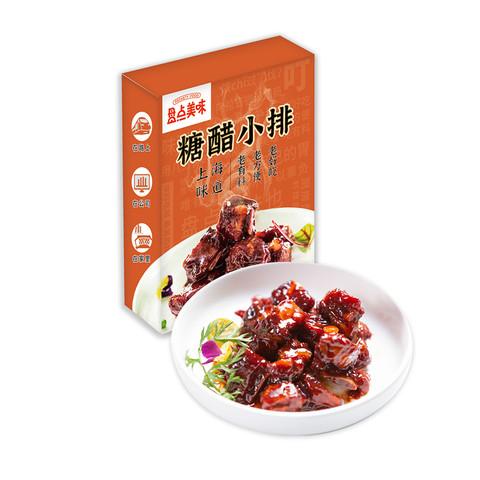 盘点美味糖醋小排250g*2袋红烧排骨凉菜熟肉卤肉凉拌菜即食卤味