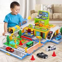 益米 儿童便携停车场轨道益智玩具
