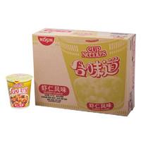 临期品:NISSIN 日清 合味道方便面 虾仁风味整箱装 82g*12杯 多口味可选