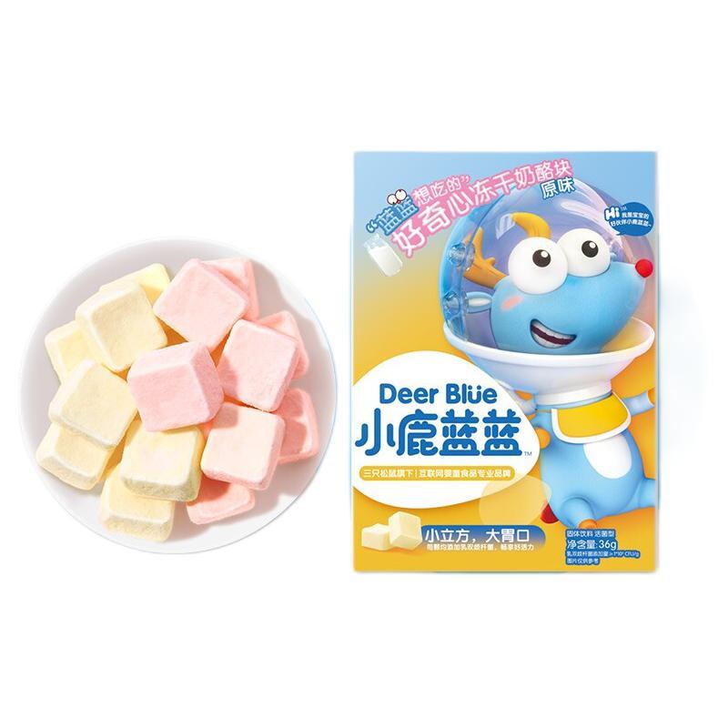 小鹿蓝蓝 冻干奶酪块 原味 36g