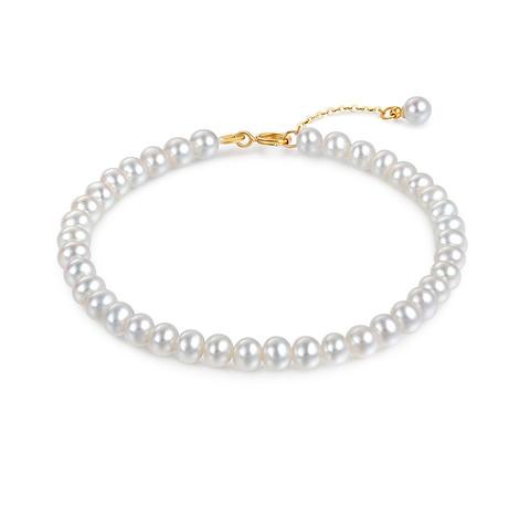 六福珠宝 F87KBTB002Y mipearl18K金淡水珍珠手链