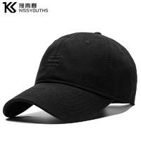 撞青春 棒球帽黑色黑标 55-60cm