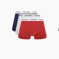 88VIP:Calvin Klein 卡尔文·克莱 男士纯棉平角内裤 U2662-WFP 3条装