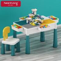 哈尚(Hearthsong)积木桌子儿童玩具男女孩幼儿园游戏桌椅大颗粒积木拼装生日礼物+凑单品