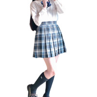ZONPER 中牌 黛缥 JK制服 女士格裙 45cm XS