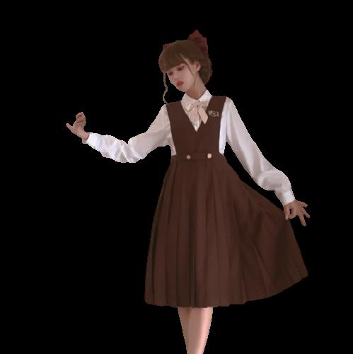 胡桃木JK 金茶色的往事 JK制服 西式制服 女士护奶裙 60cm S