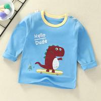 兒童T恤長袖春秋季純棉上衣嬰幼兒卡通男女童裝寶寶打底衫 60 100cm *3件