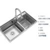 ARROW 箭牌卫浴 AE558214G-1 304不锈钢水槽(82*45) 不带龙头沥水篮