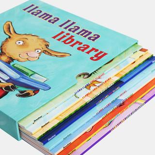 凯迪克图书 英文原版绘本 羊驼拉玛图书馆系列英文绘本 llama llama library8本装幼儿英语启蒙2-6