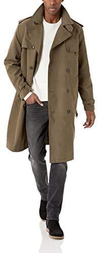 LONDON FOG 男士斜纹腰带双排扣标志性风衣
