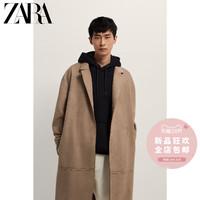 ZARA新款 男装 仿麂皮反绒长风衣外套 03548641711