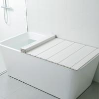 TOPRE日本進口折疊浴缸蓋家用浴室蓋板架洗澡保溫蓋浴缸防塵蓋 L14-75*140cm 2.8kg