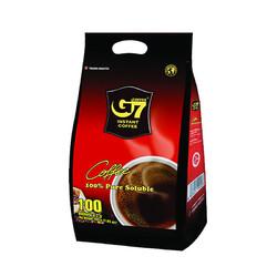 中原咖啡 G7纯黑速溶咖啡 低卡无糖黑咖啡  2g*100条