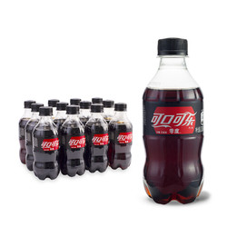 Coca-Cola 可口可乐 零度汽水 碳酸饮料 300ml*12罐