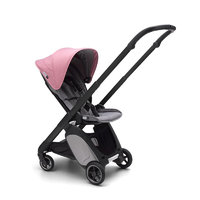 BUGABOO 博格步 Ant系列 嬰兒推車 亞麻款 帶天窗 黑架莓果粉蓬麻灰座