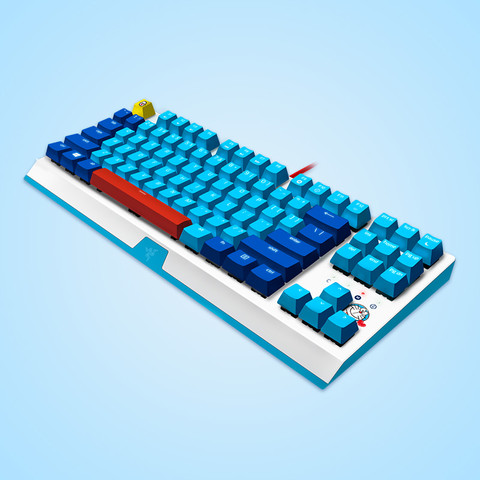 RAZER 雷蛇 哆啦A梦50周年限定款 机械键盘 87键 绿轴