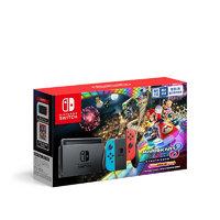 Nintendo 任天堂 Switch游戏主机 国行系列 Nintendo Switch 红蓝主机+马力欧卡丁车8限量套装 游戏机 黑色
