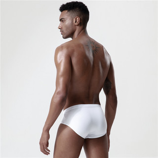 YASHIKAI 雅士凯 男士三角内裤套装 4条装 纯白色 M