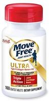 Move Free 益节 II型胶原蛋白,硼和HA超三合一片剂(每瓶160粒)