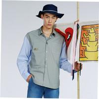 GXG x KH联名款 GB103229E334  男士衬衫