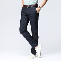 ROMON 罗蒙 101Z00889 男士纯色宽松直筒休闲裤