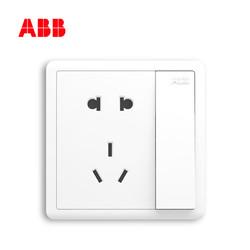 ABB 致远系列 86型一开五孔插座套餐 10只装