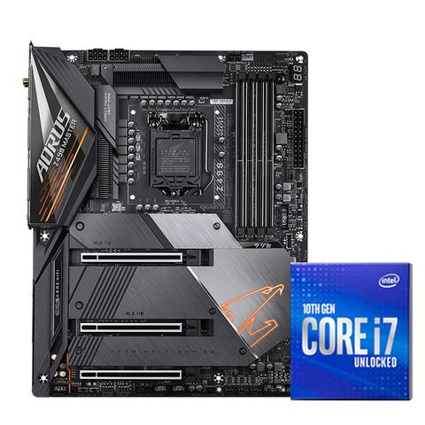 技嘉 Z490 主板   Intel 英特尔 i7 10700KF 板U套装