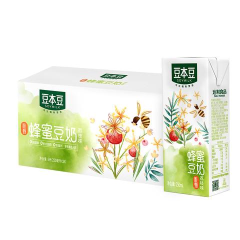 88VIP:豆本豆 蜂蜜豆奶 250ml*24盒 *5件
