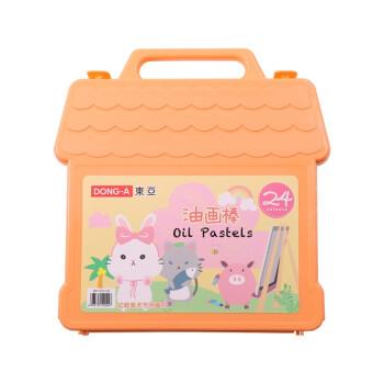 DONG-A 东亚  DAOP-24C 甜蜜兔胶盒油画棒  橙色盒子 24色 *2件
