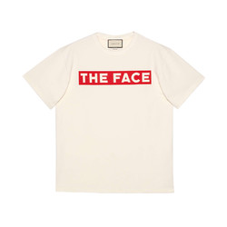 """GUCCI 古驰 男士 """"The Face""""廓形日常百搭T 恤"""