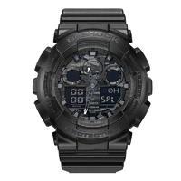 考拉海购黑卡会员:CASIO 卡西欧 G-SHOCK系列 GA-100-1A1 男士双显运动手表