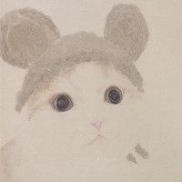 买买艺术 何晓蕾《帽子猫》版画 装饰画50*65cm