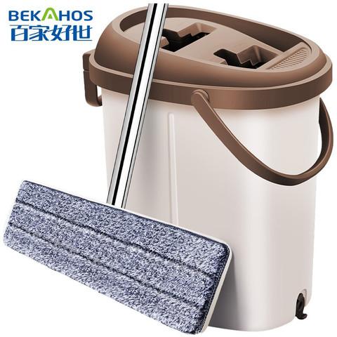 百家好世终洁者免手洗平板吸水拖把布墩布桶拖地神器家用大号尘推木地板懒人好神拖