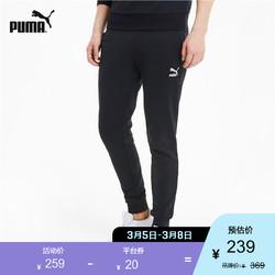 PUMA彪马官方 新款男子抽绳收口休闲长裤 CLASSICS 599311 黑色 01 L *4件