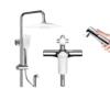 ARROW 箭牌卫浴 AE3497CP 四功能淋浴花洒套装 方形A款