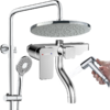 ARROW 箭牌卫浴 AE3422MS 四功能淋浴花洒套装 圆形D款