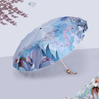 16骨太阳伞女防晒防紫外线黑胶折叠晴雨两用大号简约遮阳伞upf50+
