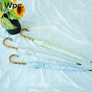 2021新款Wpc.日本女晴雨两用小清新防晒防紫外线长柄伞日系遮阳伞