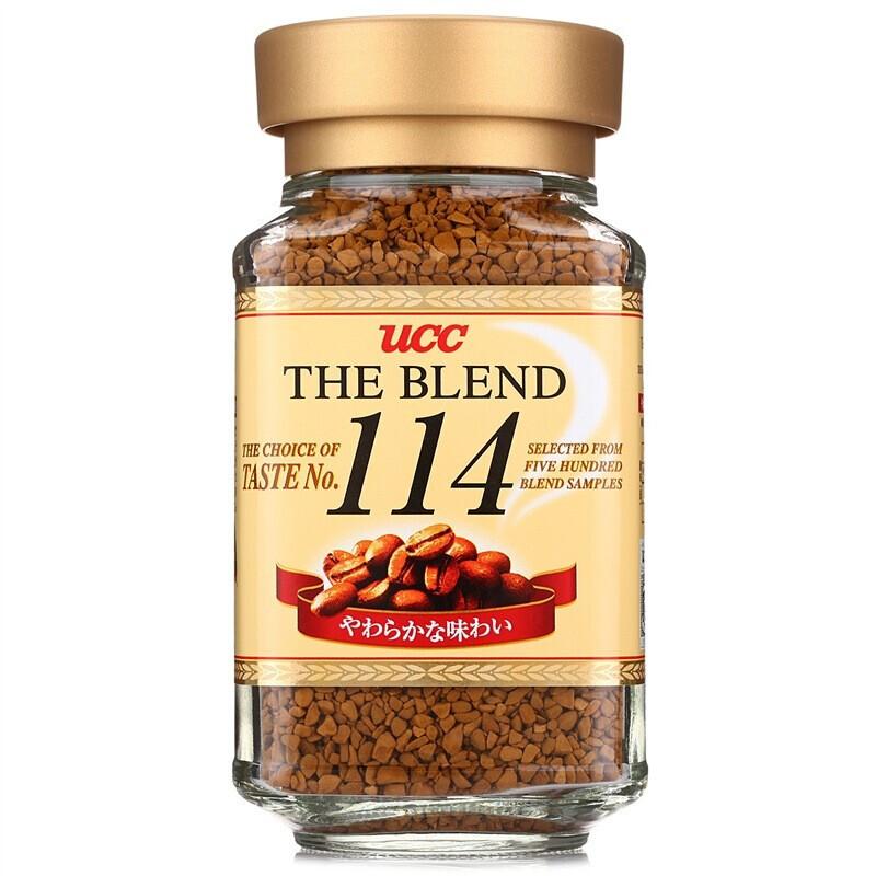 UCC 悠诗诗 114黑咖啡 速溶咖啡 90g